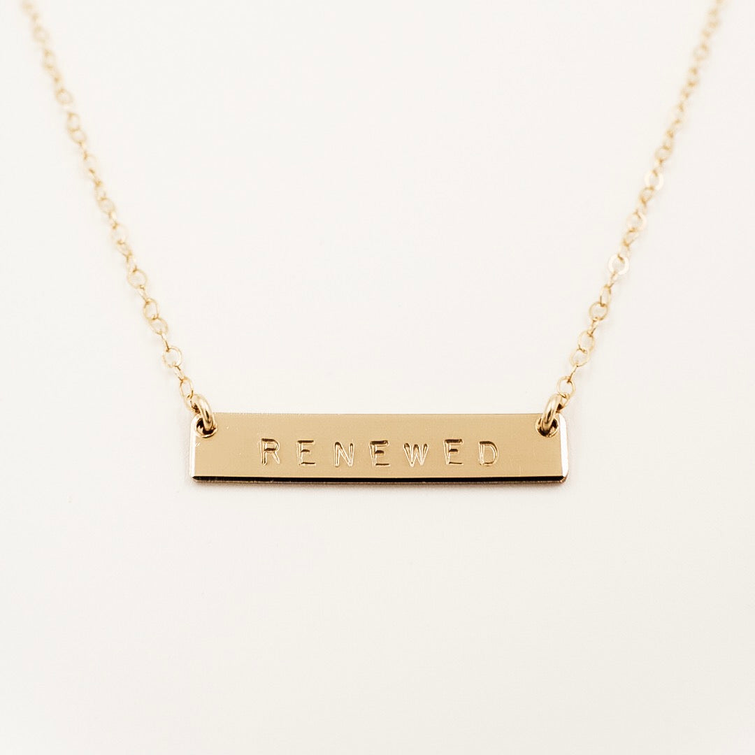 "1"" Bar Necklace"