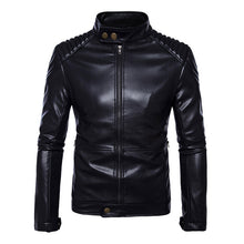 Load image into Gallery viewer, Motorcycle Jacket Men Leather PU