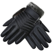 Load image into Gallery viewer, Deer Story Winter Leather Gloves Black Men's