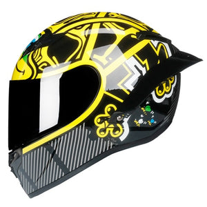 HQ Carbon Full Face Motorcycle Helmet