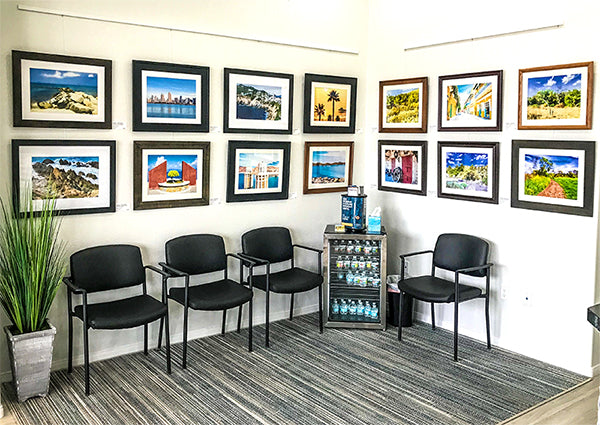 Fine Art Expression Art Gallery inside Scripps Poway Eyecare and Optometry