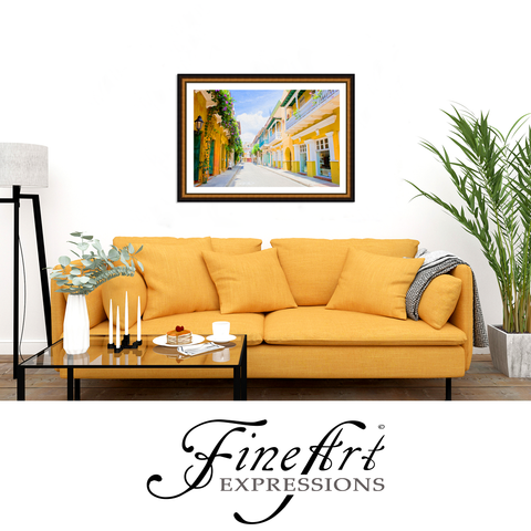Fine Art Expressions - Colonial Street in Cartegena, Colombia