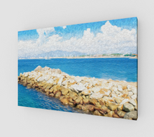 "Load image into Gallery viewer, ""The Jetty in Manzanillo, Mexico"" Fine Art Canvas"