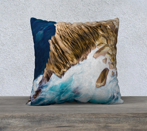 """Cliffs in Acapulco 3"" 22""x22"" Fine Art Pillow Case"
