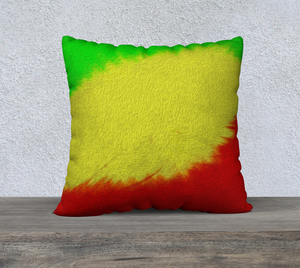 """Rasta Sensation II"" 22""x22"" Fine Art Pillow Case"