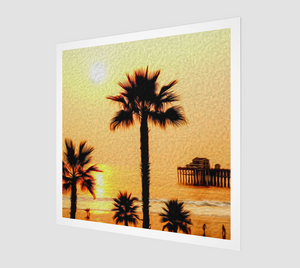 """At the Beach in Oceanside, California"" Fine Art Print"
