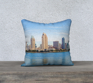 """America's Finest City"" 18""x18"" Fine Art Pillow Case"