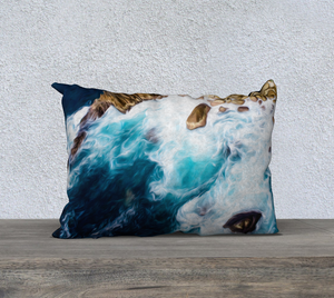 """Cliffs in Acapulco 2"" 20""x14"" Fine Art Pillow Case"