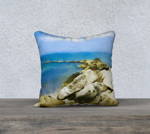 """The Jetty At Seven Mile Beach - Grand Cayman"" 18""x18"" Fine Art Pillow Case"