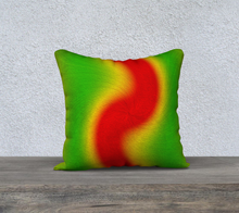 "Load image into Gallery viewer, ""Rasta Vibes 6"" - RB 18""x18"" Fine Art Pillow Case"