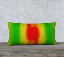 "Load image into Gallery viewer, ""Rasta Vibes 2"" - CT 24""x12"" Fine Art Pillow Case"