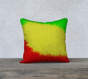 """Rasta Sensation 1"" 18""x18"" Fine Art Pillow Case"