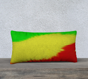"""Rasta Sensation 2"" 24""x12"" Fine Art Pillow Case"