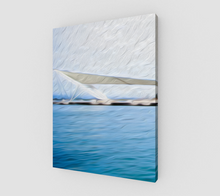 "Load image into Gallery viewer, ""The Pier in San Juan, Puerto Rico"" Fine Art Canvas - Multi-Panel 1 of 3"