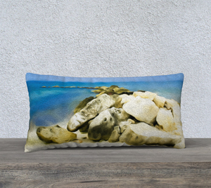 """The Jetty At Seven Mile Beach - Grand Cayman"" 24""x12"" Fine Art Pillow Case"