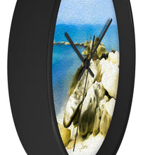 "Load image into Gallery viewer, ""The Jetty at Seven Mile Beach"" 10"" Fine Art Wall Clock"