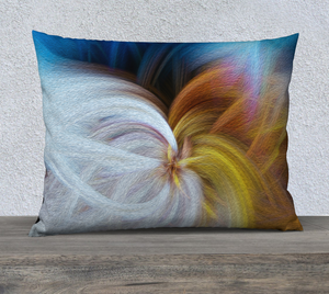 """Convergence 2"" 26""x20"" Fine Art Pillow Case"