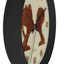 "Load image into Gallery viewer, ""African Couple Profile 2"" 10"" Fine Art Wall Clock"