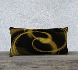 """Dimensional Paradox 4"" 24""x12"" Fine Art Pillowcase"