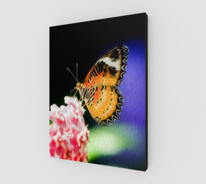 """Malay Lacewing Butterfly I"" Fine Art Canvas"
