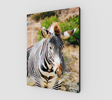 "Load image into Gallery viewer, ""Zebra I"" Fine Art Canvas"