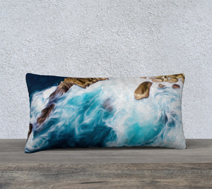 """Cliffs in Acapulco 3"" 24""x12"" Fine Art Pillow Case"