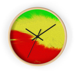 """Rasta Sensation 1"" 10"" Fine Art Wall Clock"