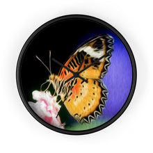 "Load image into Gallery viewer, ""Malay Lacewing Butterfly 1"" 10"" Fine Art Wall Clock"