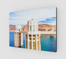 "Load image into Gallery viewer, ""Hoover Dam"" Fine Art Canvas"