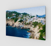 "Load image into Gallery viewer, ""Cliffs in Acapulco I"" Fine Art Canvas"