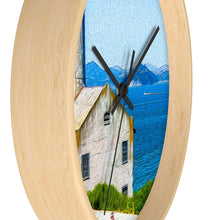 "Load image into Gallery viewer, ""Old Building at Alcatraz Island Prison"" 10"" Fine Art Wall Clock"