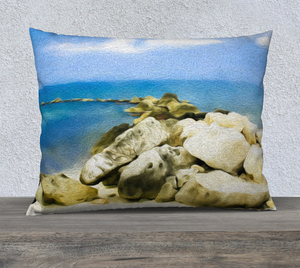"""The Jetty At Seven Mile Beach - Grand Cayman"" 26""x20"" Fine Art Pillow Case"