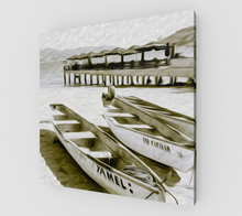 "Load image into Gallery viewer, ""At the Pier in Acapulco, Mexico"" Fine Art Canvas"