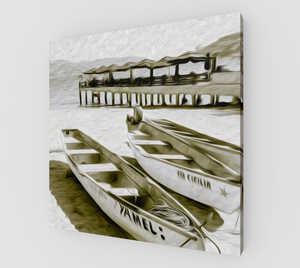 """At the Pier in Acapulco, Mexico"" Fine Art Canvas"