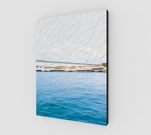 """The Pier in San Juan, Puerto Rico"" Fine Art Canvas - Multi-Panel 2 of 3"