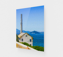 "Load image into Gallery viewer, ""Old Building At Alcatraz Island Prison"" Fine Art Acrylic Print"