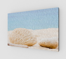 "Load image into Gallery viewer, ""Beach Rocks at 7 Mile Beach - Grand Cayman"" Fine Art Canvas"