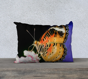 """Malay Lacewing Butterfly 1"" 20""x14"" Fine Art Pillow Case"