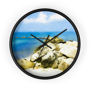 """The Jetty at Seven Mile Beach"" 10"" Fine Art Wall Clock"