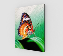 "Load image into Gallery viewer, ""Malay Lacewing Butterfly II"" Fine Art Canvas"