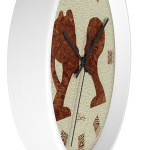 """African Couple Profile 2"" 10"" Fine Art Wall Clock"