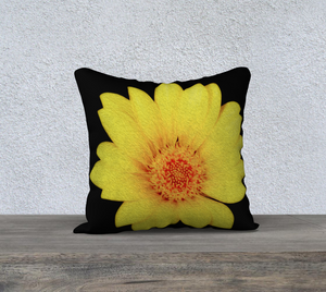 """Sunflower"" 18""x18"" Fine Art Pillow Case"