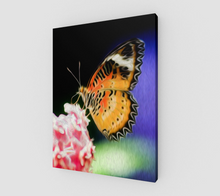 "Load image into Gallery viewer, ""Malay Lacewing Butterfly I"" Fine Art Canvas"