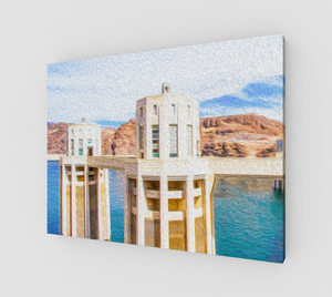 """Hoover Dam"" Fine Art Canvas"