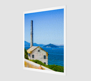 """Old Building At Alcatraz Island Prison"" Fine Art Print"