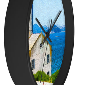 """Old Building at Alcatraz Island Prison"" 10"" Fine Art Wall Clock"