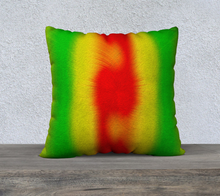 "Load image into Gallery viewer, ""Rasta Vibes 5"" - CB 22""x22"" Fine Art Pillow Case"