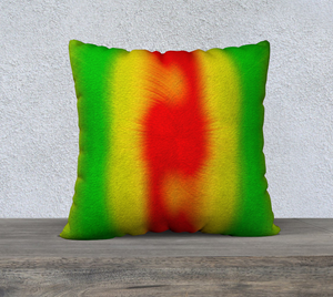 """Rasta Vibes 5"" - CB 22""x22"" Fine Art Pillow Case"