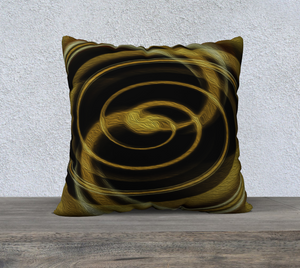 "Spatial Gateway Series: Dimensional Paradox 5 22""x22"" Fine Art Pillowcase"