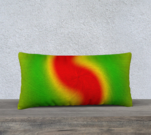 "Load image into Gallery viewer, ""Rasta Vibes III"" - RT 24""x12"" Fine Art Pillow Case"